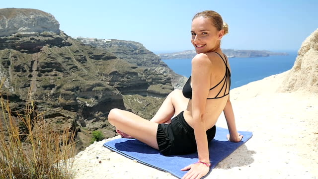 Woman practice yoga & resting