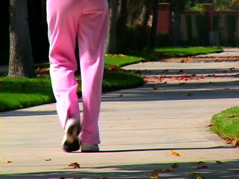 Woman race walking