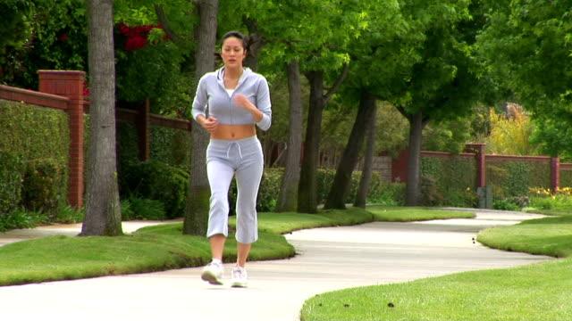 Woman racewalking