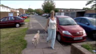 Woman recovering after dog attack EXT Princess walking her lurcher dog