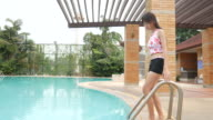 woman relax and enjoy in swimming pool