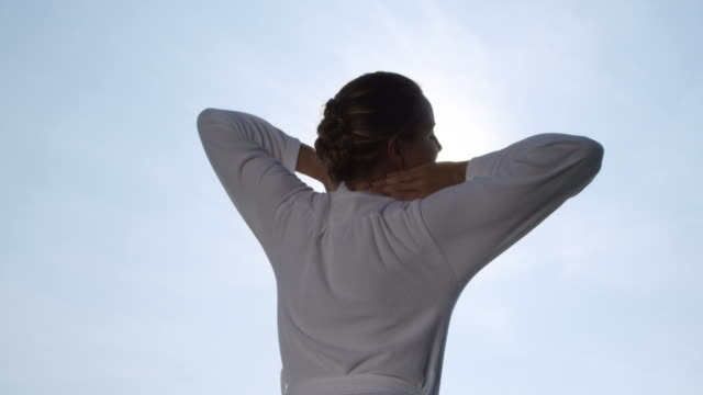 Woman relaxing in the sun