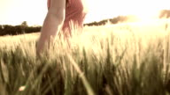 HD SUPER SLOW MO: Woman Running In Field