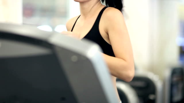 Woman Running on Treadmill - 1080p