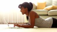 Woman sending e-mail