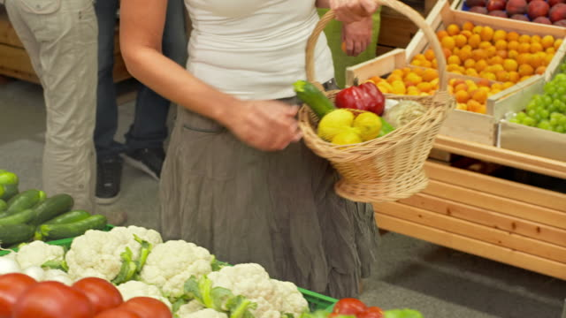HD DOLLY: Woman Shopping In Greengrocer'S Shop