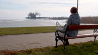 DS Woman sitting by the lake Balaton