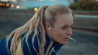 Woman stops jogging