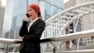 Woman talking at the phone
