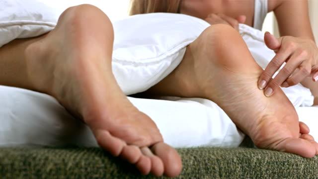 HD: Woman Tickling The Feet Of Her Boyfriend