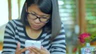 Woman using smartphone