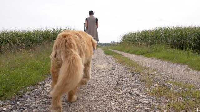 MS Woman Walking Her Dog