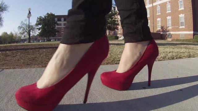 KTXL Woman Walking in Heels