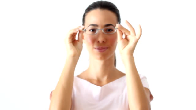 Frau mit eyeglasses