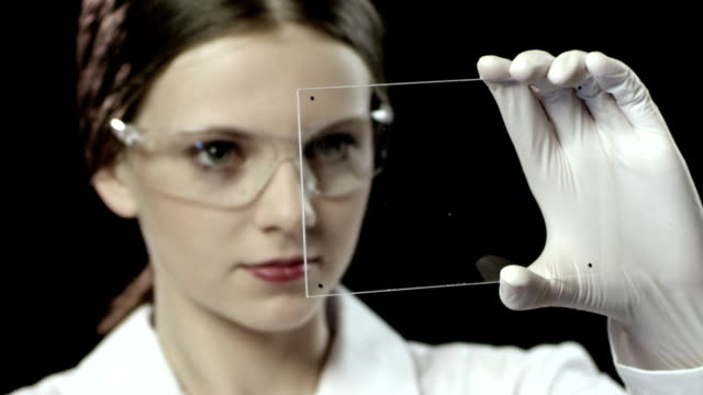 Woman Worker in a Laboratory