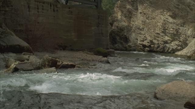 MS, PAN, Woman's body falling into river