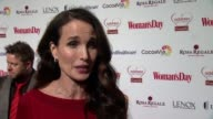 CHYRON Woman's Day Red Dress Awards Red Carpet Benefitting Go Red For Women at 10 Columbus Circle on February 10 2015 in New York City