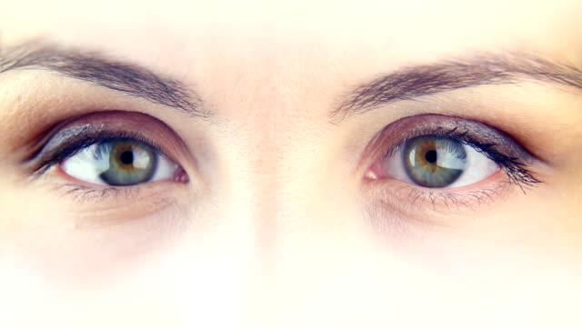 Woman's eyes - macro