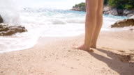 SLO MO Woman's Legs On The Beach