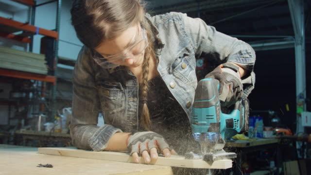Women at Work in Carpentry Workshop
