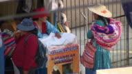 Women chatting at stall, Cochabamba, Bolivia