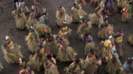 Women dance at tribal Toka festival, Tanna Island, Vanuatu