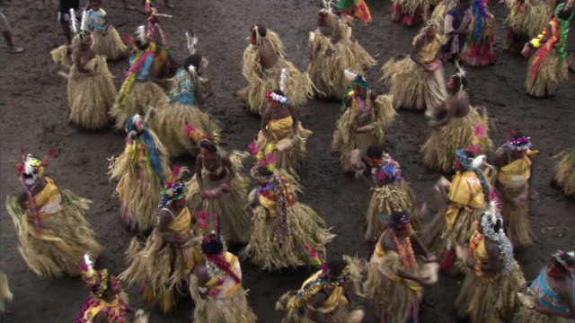 Women dance at tribal Toka festival, Tanna Island, Vanuatu