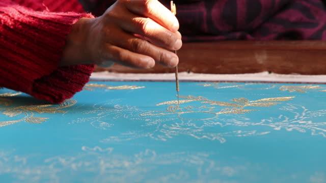 CU Women embroidering on fabrics / Kathmandu Bagmati Nepal