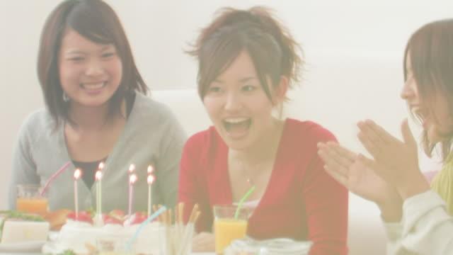 Women having birthday party