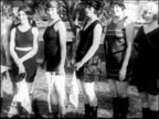 PAN women modeling swimsuits in beauty competition at Miami Beach / newsreel