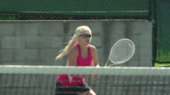 Women playing tennis. - Slow Motion