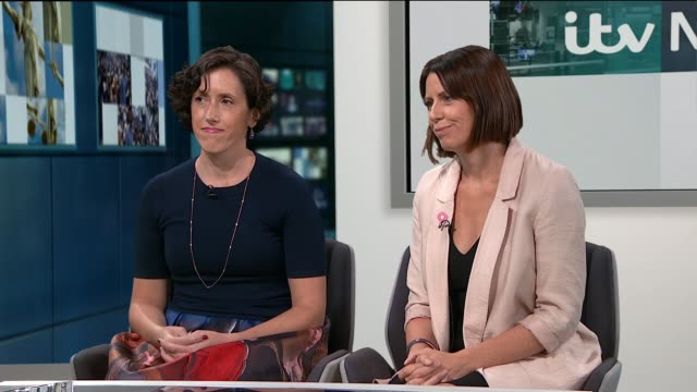 Women posting mastectomy photos online in 'show your scar' campaign ENGLAND London GIR INT Natalia RuizMoreno and Fiona Hazell LIVE studio interview...