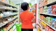 Donne shopping nel supermercato, Rallentatore