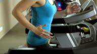 Women Training On The Treadmill