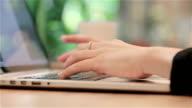 Women Typing On Laptop Keyboard