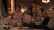 Women watching sad  TV