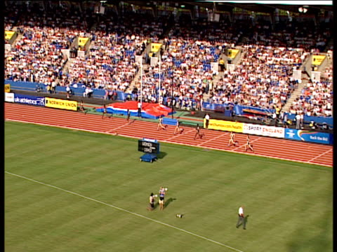 Women's 400m won by Lee McConnell McConnell congratulated by competitors 2004 Crystal Palace Athletics Grand Prix London