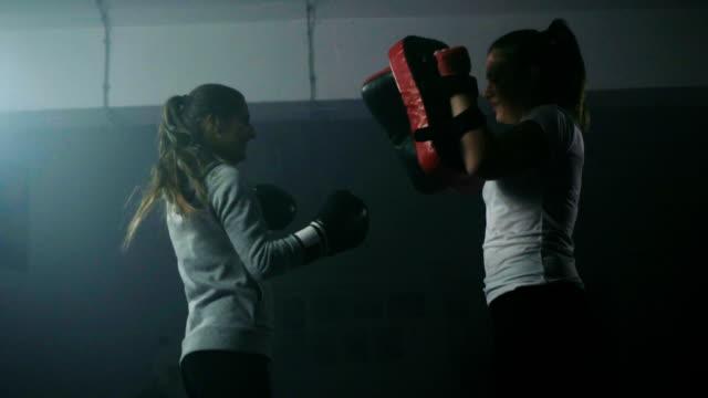 Women's boxing training
