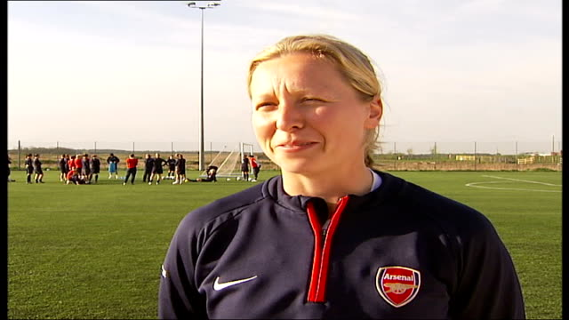 Women's Cup Final Arsenal Ladies first British team to make it to final Jane Ludlow interview SOT