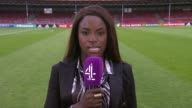 Women's Euro 2017 England through to semifinals ENGLAND London GIR INT Eni Aluko 2WAY interview from Deventer The Netherlands SOT