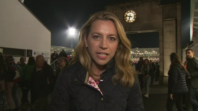 Women's Rugby World Cup England beat France in semifinal NIGHT Reporter to camera