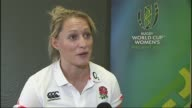 Women's Rugby World Cup Final England v New Zealand buildup NORTHERN Natasha Hunt interview SOT Various of England Women's Rugby Team training...