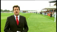 Women's Rugby World Cup opening day ENGLANDL Surrey Guildford University of Surrey sports ground EXT Reporter to camera