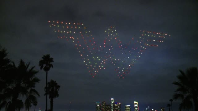 ATMOSPHERE Wonder Woman In The Sky at Warner Bros Home Entertainment And Intel Present 'Wonder Woman In The Sky' at Dodger Stadium on September 14...