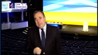 SNP won't enter into coalition with Labour or Conservative ENGLAND London / SCOTLAND Inverness INT Alex Salmond MSP LIVE 2WAY interview SOT won't go...