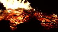 wood burning in slow motion
