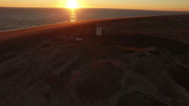 Leuchtturm Holz Ende von Drohne