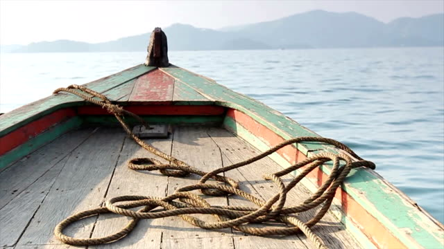 Wooden Fishing Boat and Rope