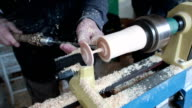 woodworking with lathe