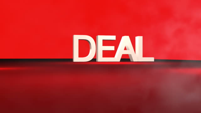 3D DEAL% word animation in FullHD.
